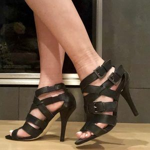 Preview International Leather Strappy Heels